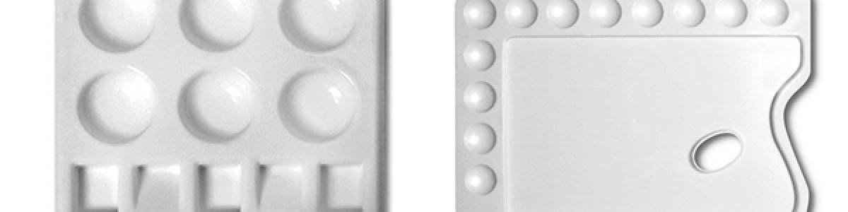 Tavolozze di plastica Rettangolari