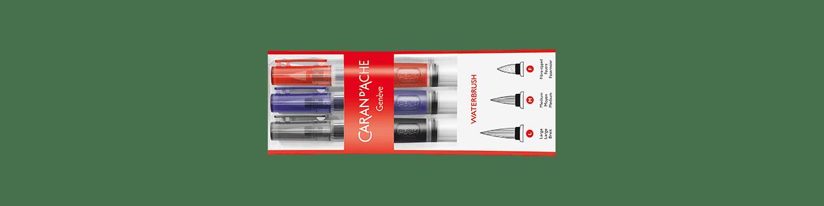 Confezione pennelli Caran d'Ache con serbatoio acqua